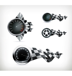 Racing emblems vector
