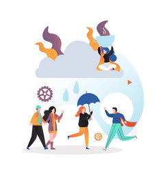 rainy weather concept for web banner vector image