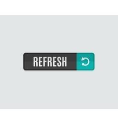 Refresh web button flat modern design vector