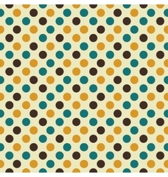 Retro seamless pattern with dots vector image