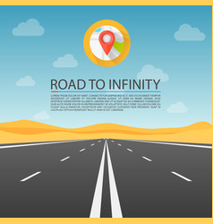 road to infinity highway road in the desert vector image