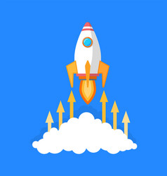 Rocket launching starting business project vector