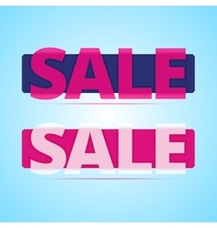 Sale banners with transparency plastic effect vector image