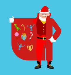 santa claus smuggler selling gifts cloak-seller vector image
