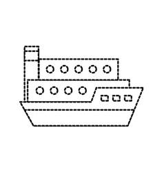 Sea transportation logistic freight shipping cargo vector