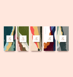 set packaging templatesline pattern in asian vector image