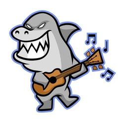 Shark Musician vector