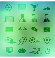 Soccer Icons set on background eps10 vector image