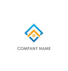 square rorealty company logo vector image