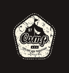 stock emblem for t-shirt vector image