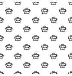 suitcase corruption money pattern seamless vector image