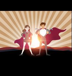 Superhero business man concept vector