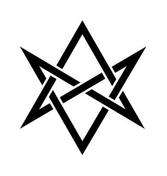 The horns of asmodeus mystical unicursal hexagram vector