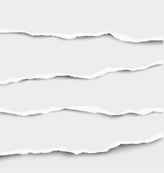 torn strips paper placed on top each other vector image