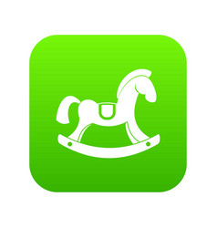 toy horse icon digital green vector image