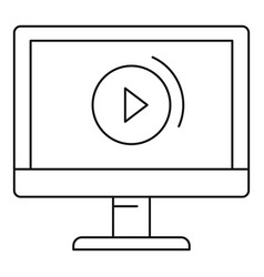 video online icon outline style vector image