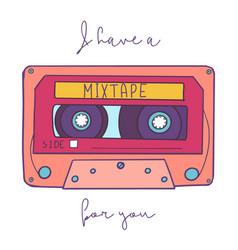 vintage - retro audio cassette vector image