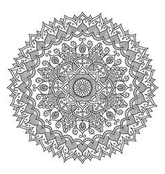 Vintage Round Mandala vector image