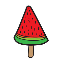 Watermelon icecream icon vector