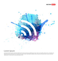wi-fi icon - watercolor background vector image
