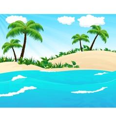 Wild tropical seascape vector
