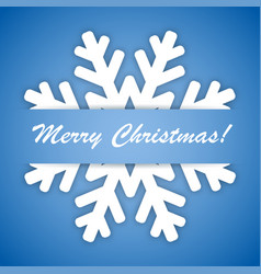 winter snowflake on a blue background vector image