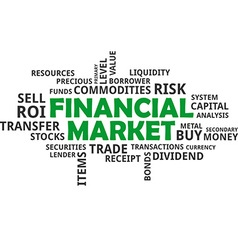 Word cloud financial market vector