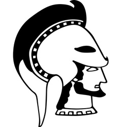 Ancient Greek soldier vector image vector image