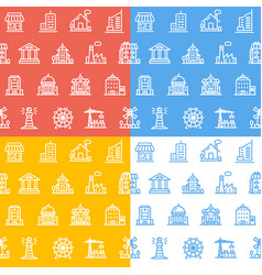building house or home pattern background set vector image vector image