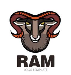 drawing head of ram vector image vector image