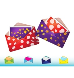 Funny envelopes with cards vector image