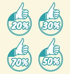 popust thumbs up1 vector image vector image