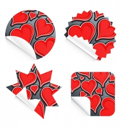 valentine stickers vector image