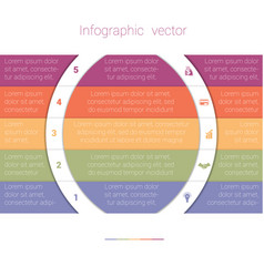 colorful strips and white semicircles for text 5 vector image
