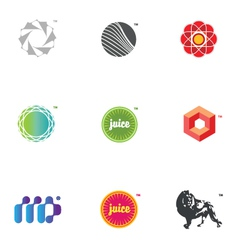 graphic icons and logos vector image vector image