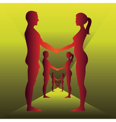 Holding by hands vector image vector image