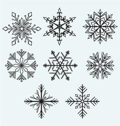 Snowflake winter vector