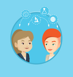 students sharing with the ideas vector image