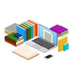online education web e-book shop library vector image