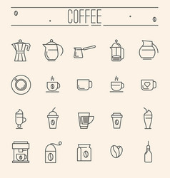 set of icons for coffee shop cafe menu vector image vector image