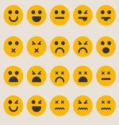 Set smileys emoticons vector image vector image