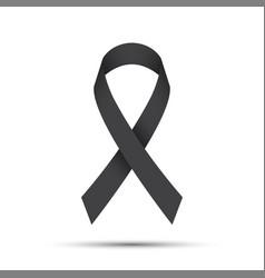 simple grey ribbon icon vector image