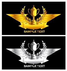 gold and silver vintage emblem vector image