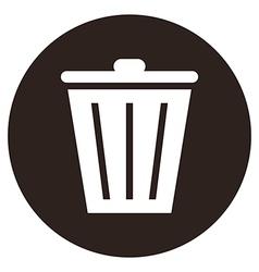 trash bin button vector image vector image