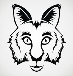 Wild Cat Tribal vector image vector image