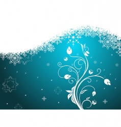 winter floral background vector image vector image