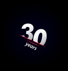 30 years anniversary celebration black and white vector