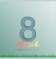 8 march greeting card for international womens vector image