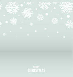 abstract silver and white snowflakes christmas vector image