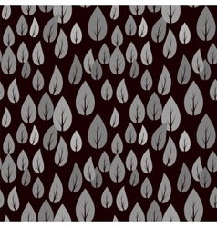 Autumn Grey Leaves Seamless Pattern vector